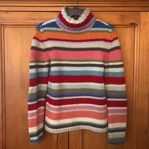 Vintage GAP Wool Blend Striped Sweater M